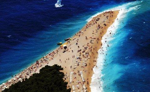 Kroatias stolthet: stranden Zlatni Rat.