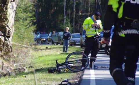 En syklist i 60-årene døde i Våler i april etter å ha blitt påkjørt av en bil. Det er en av tre dødsulykker i Østfold så langt i år.