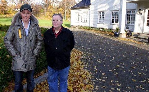 Legg spelet hit! Haakon Hattevig (til venstre) og Arnulf Johannessen ønsker at spelet settes opp i Torderødparken. foto torgeir snilsberg