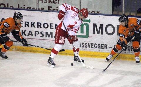 Gustaf Thorell spilte en god kamp mot Frisk Asker, og scoret ett mål. Nå har han troen på også seier mot Storhamar på torsdag.