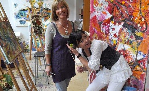 Anja Katrine Tomter og Hilde Gustava Ovesen.Foto: Tore Svensrud