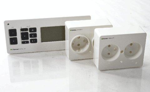 Smarte kontakter: Stikkontaktene bygger ca. 19 millimeter ut, og blir en del av den faste installasjonen når de er montert.