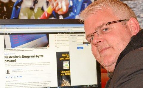 BYTT OG BYTT: Henning Sund, it-ekspert, anbefaler alle å bytte passord nå.