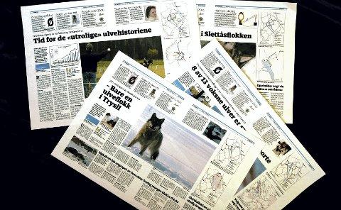 I ULVESONA: Østlendingen fulgte Slettås-flokken tett gjennom artikkelserien «I ulvesona» for ett år siden.