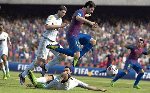 Lionel Messi i fint driv i FIFA 13 - nok en suksess fra sportsgiganten EA.