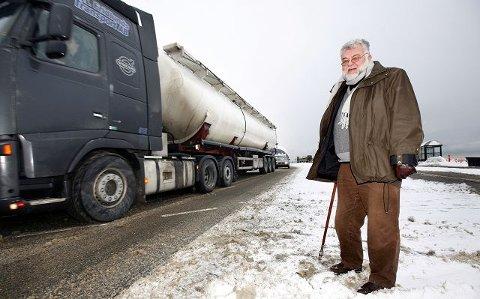 – Særlig tungtransporten er et stort forurensingsproblem for Moss, sier Erik Roth Nilsen (Ap). foto pål andreassen