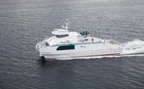 Hanøy gjør 25 knop og har plass til åtte personbiler. Oma Båtbyggeri skal nå bygge to lignende båter for Boreal Transport Nord.