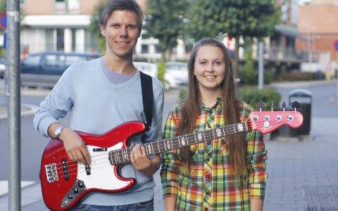 Talenter: Bassist Erlend Hellevik og danser Synne Eriksen fra Ski har tre spennende år i vente under Paul McCartneys vinger.