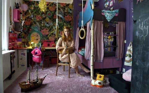 LEKENT: La barna være med å bestemme hvordan rommet skal se ut. Hjemme hos Isabelle McAllister spraker det av farge på barnerommet.