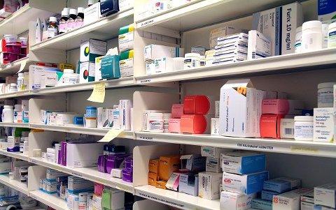 Legemidler: I Kongsberg brukes legemidler mot depresjoner og psykiske lidelser hyppigere enn blant folk på bygda. FOTO: Lars Bryne