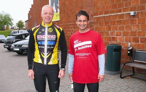 Bedir Yiyit (til høyre) er svært glad for at Rune Holtze Jensen blir ledsager i New York Marathon.