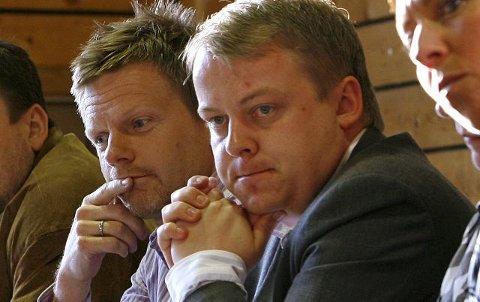 Frps Erlend Wiborg (t.h.) og Høyres Tage Pettersen står på hver sin side i Melløs-saken.