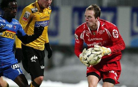 MFK-keeper Frode Larsen kan i verste fall være ute for resten av sesongen med en korsbåndskade. Her fra forrige periode han spilte for Moss FK.