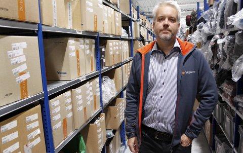 Så rødt: Statsbudsjettet fikk Eric Sandtrø, sjef i Fjellsport.no og gründeren bak Komplett, til å se rødt. Foto: Morten Fredheim Solberg