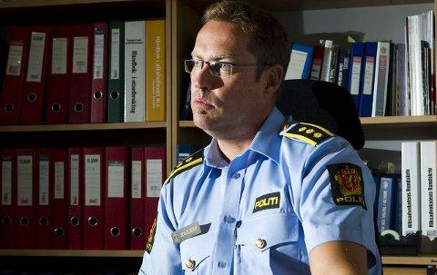 NEKT: Politistasjonssjef Jørn Schjelderup i Haugesund vil på ny anmode utebransjen i haugesund om MC-nekt. FOTO: TERJE STØRKSEN