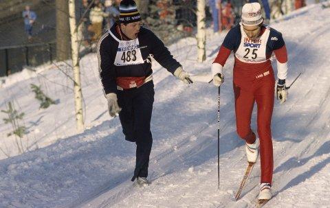 287040d9 GLORY DAYS: Lars-Erik Eriksen sekunderes av Terje Bogen under 30  kilometeren i Oslo
