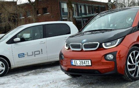 BMW i3 og VW e-Up skal kjempe i det stadig voksende elbilmarkedet.