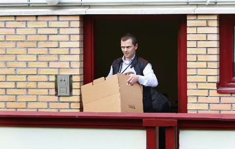 RANSAKET: PST var hjemme hos de to Bærums-brødrene og ransaket boligen tirsdag formiddag.