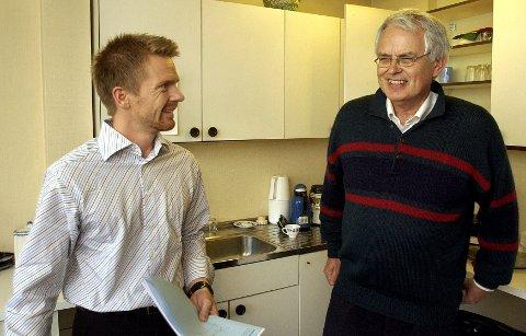 Øyvind Modalsli (til høyre), leder av nominasjonskomiteen i Moss Høyre, ser for seg Tage Pettersen som partiets fremste kandidat ved valget i Moss i 2011.
