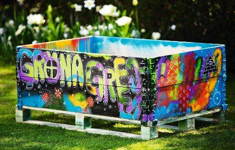 Pallekarmen med graffiti er Eva Robilds favoritt.