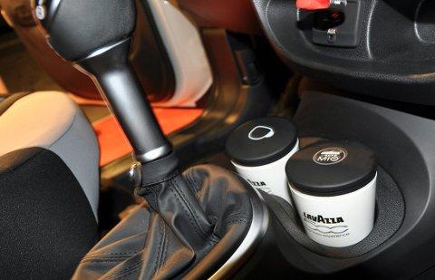 Tro det eller ei, men 500L kan leveres med innebygd kaffemaskin fra LavAzza!