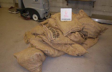 Hele 188 kilo av det narkotiske stoffet khat beslagla tollerne på Svinesund tirsdag kveld.