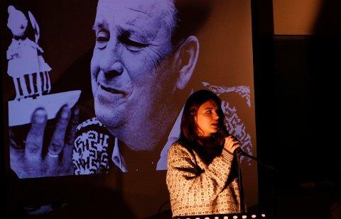 Une Solli synger Alf Prøysens vise om minnene fra Lauvåsen, «Vise for gærne jinter».