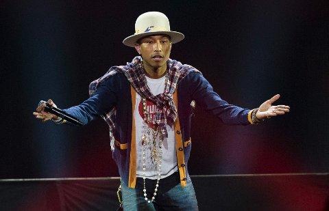 TOPPER: Pharrell Williams. Foto: Scanpix