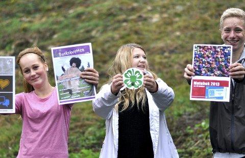 Spennende: Ungdommene synes 4H er  en bra aktivitet. Suzanne Stuvstad (14) (t.v.), Pernilla Nordengen (14) og Henning Lande (14). foto: åsne bilstad
