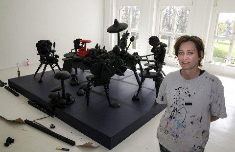 Ny utstilling: Svenske Annika Simonsson er fra Halmstad, men har bodd i Norge i mange år. Hennes spektakulære kunstverk kan skues på ØKS fra lørdagjohn johansen