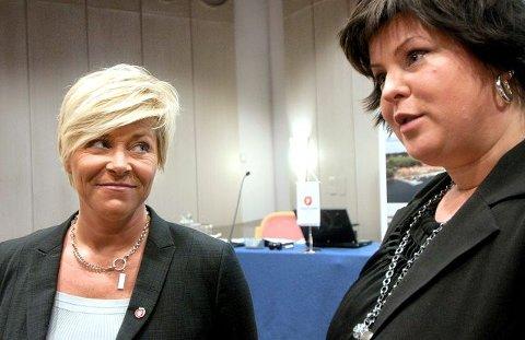 drahjelpOrdfører Eva Kristin Andersen får Fredrikstad-besøk av partileder Siv Jensen i ettermiddag.
