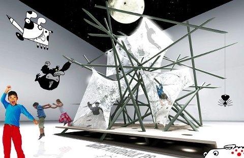 Denne konstruksjonen kom ut av samarbeidet mellom elever fra Cicignon og arkitektfirmaet Griff i Fredrikstad.
