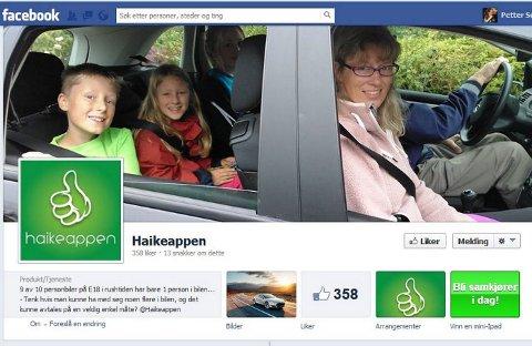 NETTSTED: Facebook har vært felles møteplass for Haikeappen og tilhengerne siden testperioden startet.
