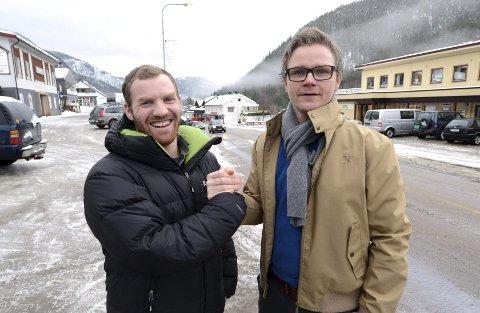 Lars Tore Lesteberg (t.v.) og Harald Egeland ser fram til nyvinningen Uvdal triatlon lørdag 30. august.