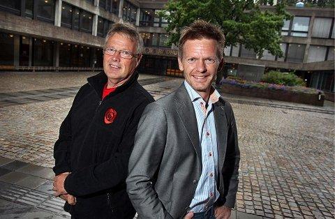 Tage Pettersen (H) (t.h.) leder hårfint foran Tomas Colin Archer (Ap) til å bli Moss bys neste ordfører etter valget 12. september.