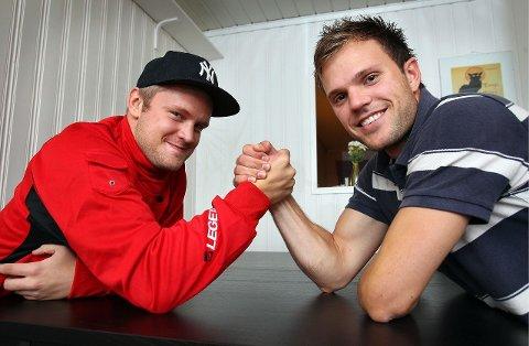 Nicklas Knudsen og Eirik Wentzel Jensen. Foto: Geir Hansen,  Moss Avis