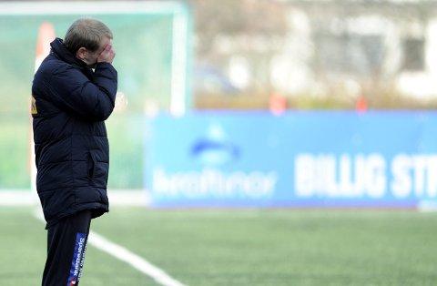 SF-trener Arne Sandstø var skuffet over at det ikke ble seier mot Strømmen lørdag.