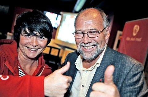 Irene Johansen og Svein Roald Hansen er strålende fornøyde med resultatet i Fredrikstad og Østfold. Foto: Geir A. Carlsson