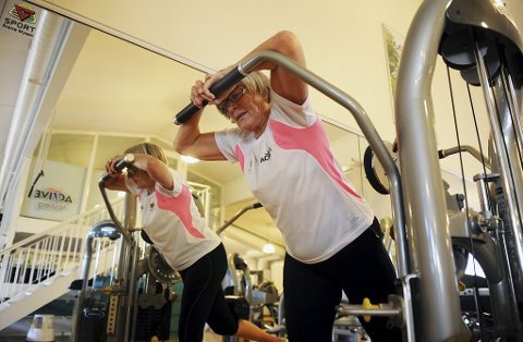Inger Johanne Danielsen har vært medlem hos Active i 27 år og gir fortsatt alt på trening. Hun deltar også i treningskonkurransen til senteret, Hyper Active.