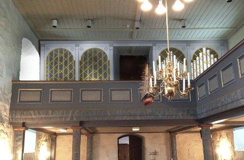 Ferdig: Fotomontasjen viser hvordan orgelet kommer til å se ut når det blir ferdig neste høst.