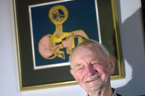 HEDRES: Kunstneren Odd Tandberg fra Ås er utnevnt til Ridder av 1. klasse av St. Olavs Orden. FOTO: CHRISTIAN CLAUSEN.