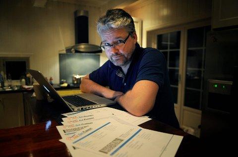 Stein-Herman Stordalen kjøpte falske flybilletter for 17.500 kroner. Nå ber han folk være forsiktig når de handler på nett.  Foto: Janne Grytemark