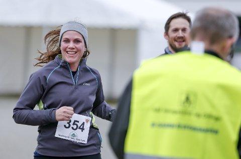 LØPEPAR: Kristine Frette og Jarle Thy løp begge halvmaraton.