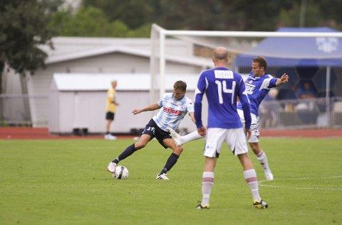 Patrik Karoliussen spilte hele kampen for Follo-rekruttene, men klarte ikke å forhindre 2-1-tapet mot Fredrikstads rekrutter.
