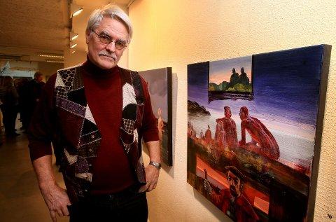 BOKAKTUELL: En biografi om Peter Esdaile ble lansert på utstillingen.