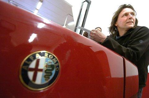 Drøbaks mann med sin Alfa Romeo
