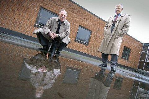 Frp-politikerne Viggo Amundsen (til venstre) og Stein Søyland fra Drøbak reklamerte med at de, gjennom selskapet World Water Ways, skulle tjene milliarder på kjøp og salg av vann i Persiabukta. Nå risikerer Amundsen flere års fengsel. FOTO: CHRISTIAN CLAUSEN