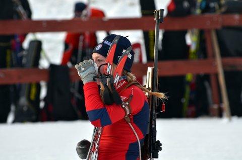 Nina Støvern, Simostranda IL/ NTG-L, var ikke fornøyd med søndagens 10. plass i norgescupen på Simostranda.