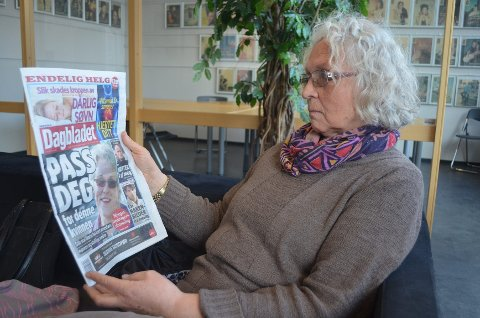 SKREMT: Gunhild Fossum Munkejord ble sjokkert da hun leste om den svindeltiltalte kvinnen i Dagbladet i går.Foto: Kjetil Brorson Dahl