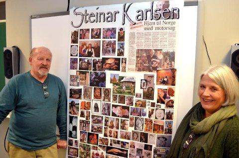 MOTGANG GIR KRAFT: Steinar Karlsen fortalte om hva motgang har gjort med ham. Leder i Åmot Psykisk Helse, Gjertrud Linde til høyre.